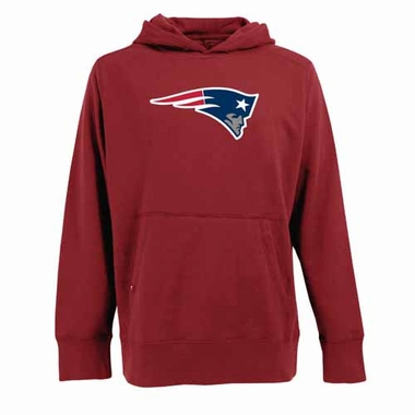 New England Patriots Big Logo Mens Signature Hooded Sweatshirt (Alternate Color: Red)