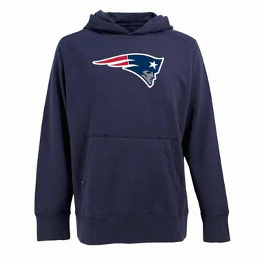 New England Patriots Big Logo Mens Signature Hooded Sweatshirt (Team Color: Navy)