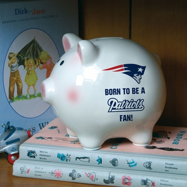 New England Patriots (Born to Be) Piggy Bank