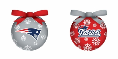 New England Patriots Boxed LED Ornament Set