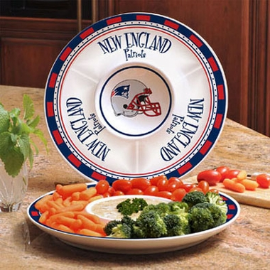 New England Patriots Ceramic Chip and Dip Plate