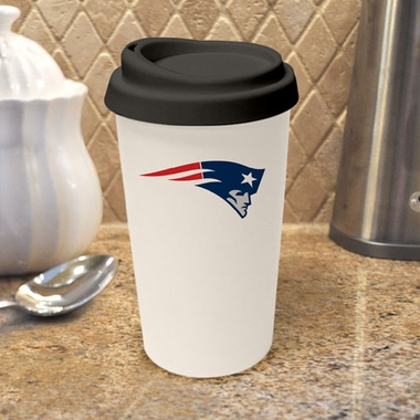 New England Patriots Ceramic Travel Cup