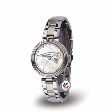 New England Patriots Charm Womens Watch