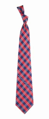 New England Patriots Check Poly Necktie