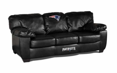New England Patriots Leather Classic Sofa