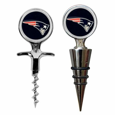 New England Patriots Corkscrew and Stopper Gift Set