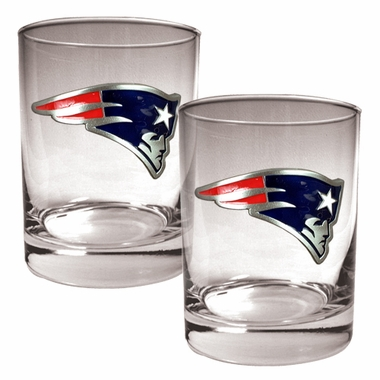 New England Patriots Double Rocks Set