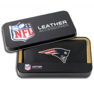 New England Patriots Embroidered Leather Checkbook Cover
