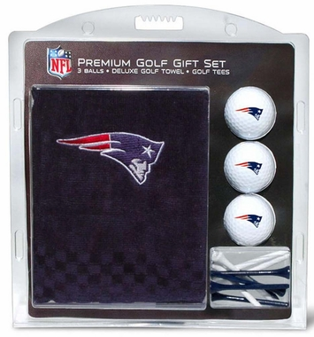 New England Patriots Embroidered Towel Golf Gift Set