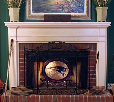 New England Patriots Fireplace Screen
