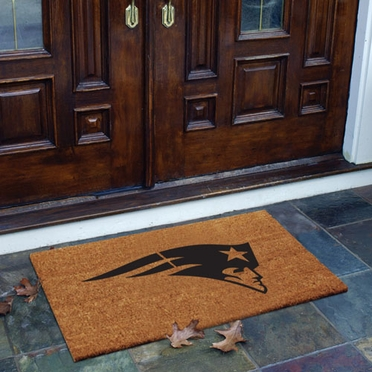 New England Patriots Flocked Coir Doormat