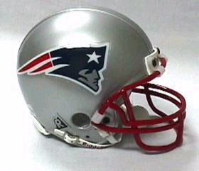 New England Patriots Football Helmet - Mini Replica