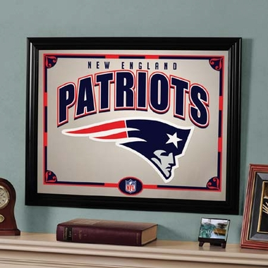 New England Patriots Framed Mirror