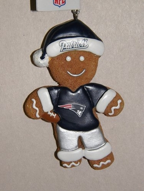 New England Patriots Gingerbread Man Christmas Ornament