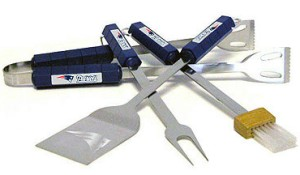 New England Patriots Grill BBQ Utensil Set