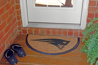 New England Patriots Half Moon Door Mat