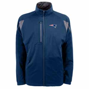 New England Patriots Mens Highland Water Resistant Jacket (Team Color: Navy) - Large