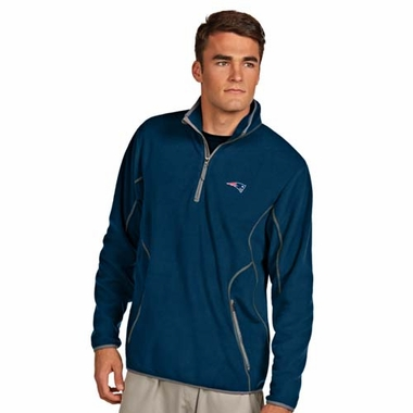 New England Patriots Mens Ice Polar Fleece Pullover (Team Color: Navy)