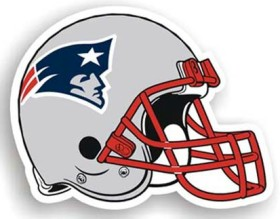 "New England Patriots 12"" Helmet Car Magnet"