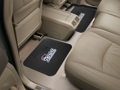 New England Patriots SET OF 2 Heavy Duty Vinyl Rear Car Mats