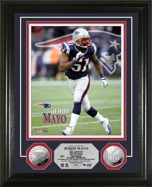New England Patriots Jerod Mayo Silver Coin Photo Mint