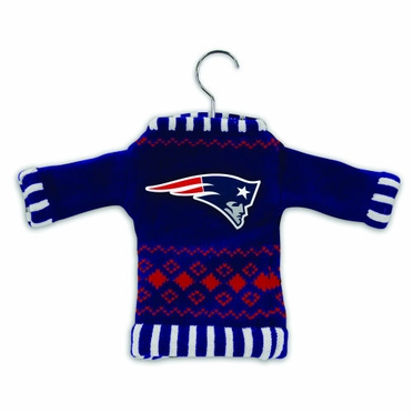 New England Patriots Knit Sweater Ornament (Set of 3)