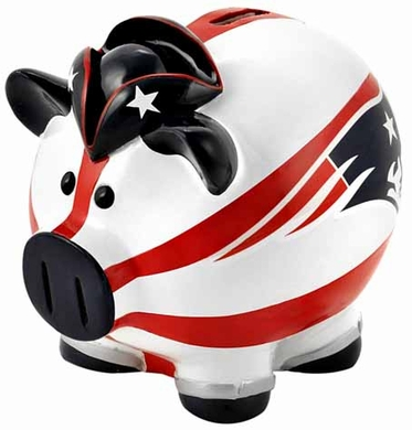New England Patriots Large Thematic Piggy Bank