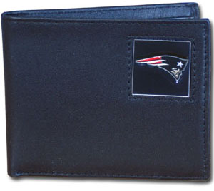 New England Patriots Leather Bifold Wallet (F)