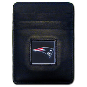 New England Patriots Leather Money Clip (F)