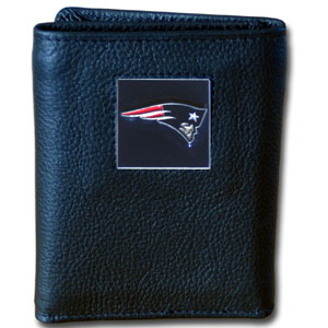 New England Patriots Leather Trifold Wallet (F)