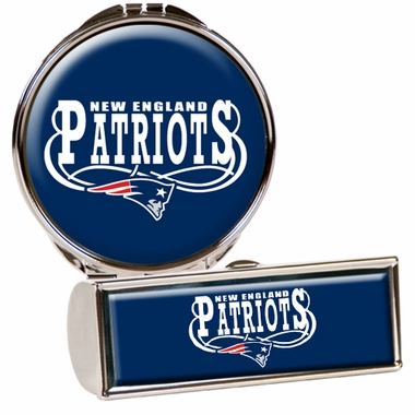 New England Patriots Lipstick Case and Compact Set