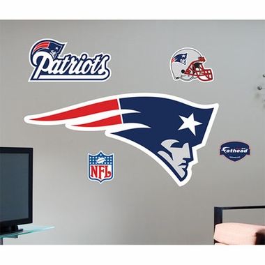 New England Patriots Logo Fathead Wall Graphic