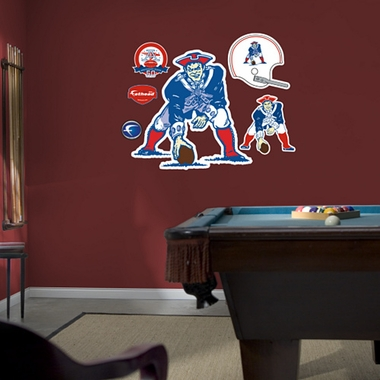 New England Patriots Logo (Throwback) Fathead Wall Graphic