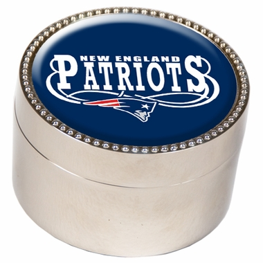 New England Patriots Metal Trinket Box