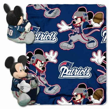 New England Patriots Mickey Mouse Pillow / Throw Combo