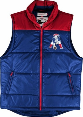 New England Patriots Mitchell & Ness NFL Winning Team Throwback Snap Vest Jacket