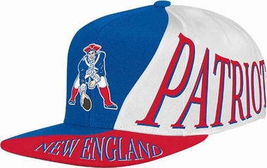 New England Patriots Mitchell & Ness The Skew Retro Vintage Snap Back Hat