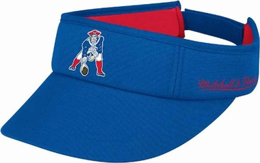 New England Patriots Mitchell & Ness Throwback Adjustable Summer Visor