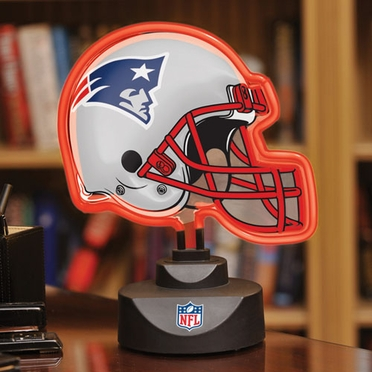 New England Patriots Neon Display Helmet