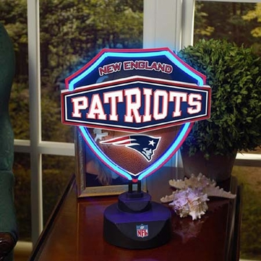 New England Patriots Neon Shield Table Lamp