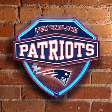 New England Patriots Neon Shield Wall Lamp
