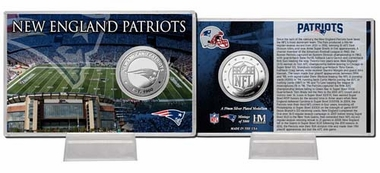 New England Patriots New England Patriots Silver Coin Card