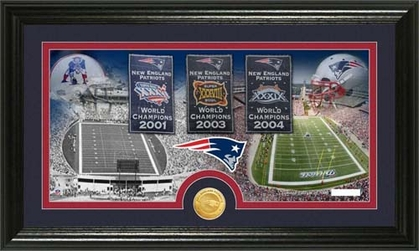 New England Patriots New England Patriots �Tradition� Minted Coin Pano Photo Mint