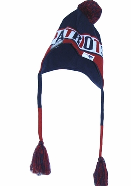 New England Patriots New Era NFL Crayon Box Tassel Knit Hat w/ Pom