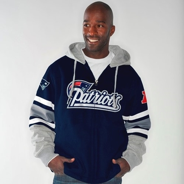 "New England Patriots NFL G-III ""1 on 1"" Jersey Hooded Premium Sweatshirt"