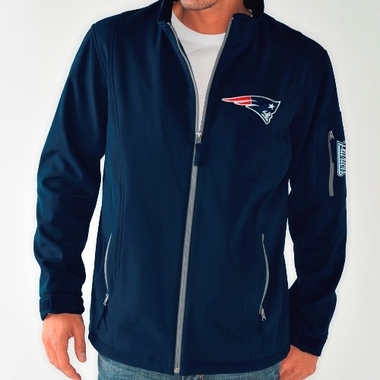 New England Patriots NFL Inside Handoff Full Zip Softshell Premium Jacket