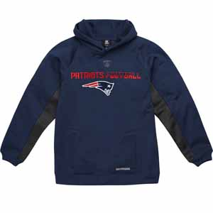 New England Patriots NFL YOUTH Endurance Performance Pullover Hooded Sweatshirt - X-Large