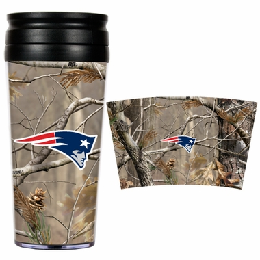 New England Patriots Open Field Acrylic Travel Tumbler
