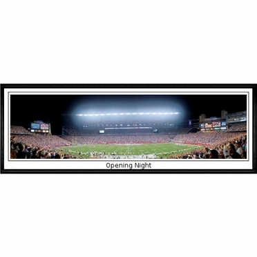 New England Patriots Opening Night Framed Panoramic Print