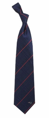 New England Patriots Oxford Stripe Woven Silk Necktie
